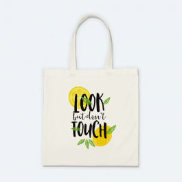 Look But Don't Touch BaeLolly Canvas Cotton Totebag