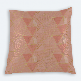 Pretty in pink Square Brasso Jacquard Throw Pillow Without Insert