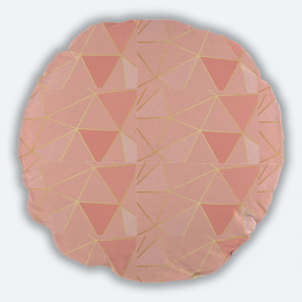 Pretty in pink Round Canvas Throw Pillow Without Insert