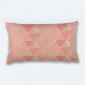 Pretty in pink Lumbar Canvas Throw Pillow Without Insert