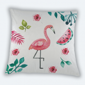 Summer Paradise Square Canvas Throw Pillow With Insert