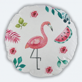 Summer Paradise Round Canvas Throw Pillow Without Insert