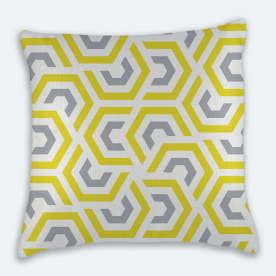 Abstract Geometry Square Textured Throw Pillow With Insert