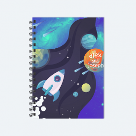 Off to The Space BaeLolly Ruled Notepad