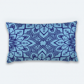 Psychedelic Geometry Lumbar Canvas Throw Pillow Without Insert
