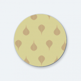 Geometric Leaf BaeLolly Round Button Badge Pack Of 4