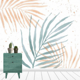 Palm Party IV Ribbed Eco Wall Mural