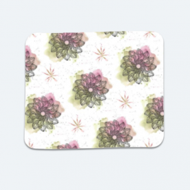 Tranquil Foliage Textile BaeLolly Mouse Pad