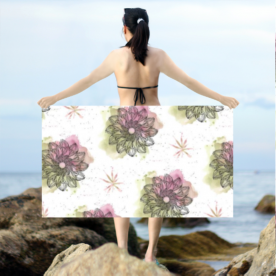 Tranquil Foliage Textile Intricate Dobby Emma Sarong