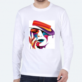 Colorful Lady BaeLolly Men's Round Neck Long Sleeve T-Shirt