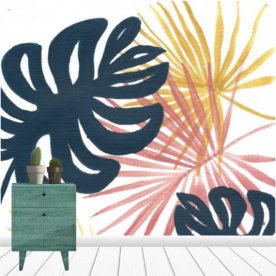Sultry Foliage Collection Leatherette Eco Wall Mural
