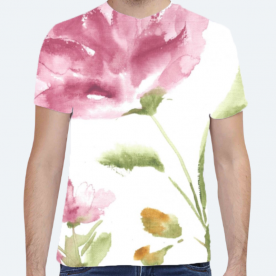 Summer in the Meadow Collection BaeLolly Unisex All Over Printed T-shirt