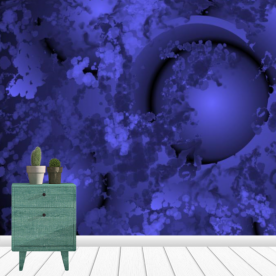 Shades of Midnight Leatherette Eco Wall Mural