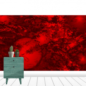 Red Storm Ribbed Eco Wall Mural