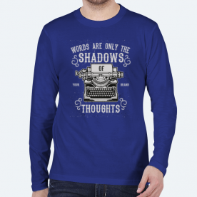 Shadows of Thoughts BaeLolly Men's Round Neck Long Sleeve T-Shirt