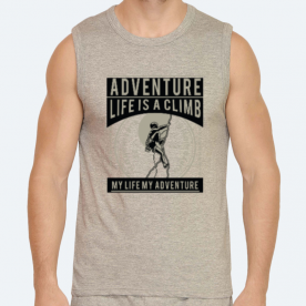 Life is a climb2 BaeLolly Men's Athlectic Vest