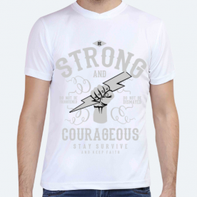 Be strong and couragetous BaeLolly Unisex All Over Printed T-shirt