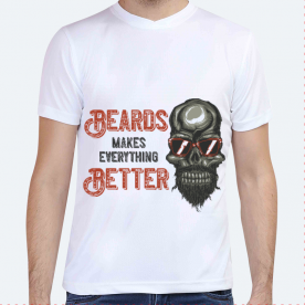 Hipster beard print BaeLolly Unisex All Over Printed T-shirt
