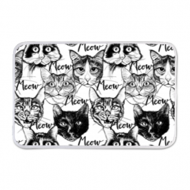 Head-cute-cats-graphic Indoor Fleece Mat
