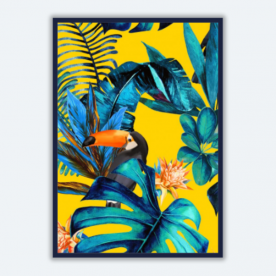 Tropical-wood-with-toucans BaeLolly A3 Poster Frame