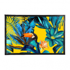 Tropical-wood-with-toucans Outdoor Mat