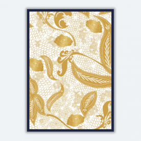 Golden lace BaeLolly A4 Poster Frame