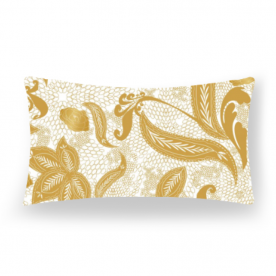 Golden lace Lumbar Canvas Throw Pillow Without Insert