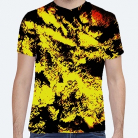 *InThaWeeds* (CAUTION YELLOW) BaeLolly Unisex All Over Printed T-shirt
