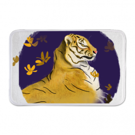 Go LSU Tigers Indoor Fleece Mat