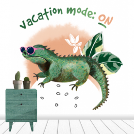 On vacation mode Canvas Wall Mural