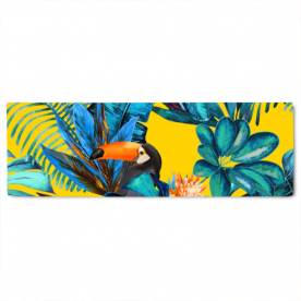 Tropical-wood-with-toucans by KSDesigs Layla Gold Jacquard Table Runner