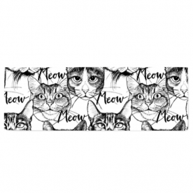 Head-cute-cats-graphic by LiliSavelieva Lillian Brasso Jacquard Table Runner