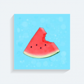 Let's eat some some watermelon BaeLolly Square Canvas Frame