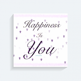 Happiness is U BaeLolly Square Canvas Frame