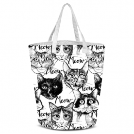 Head-cute-cats-graphic by Lilisavelieva Laila All Over Print Laundry Bag
