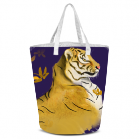 Go LSU Tigers Laila All Over Print Laundry Bag