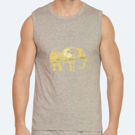 Forest Elephant BaeLolly Men's Athlectic Vest