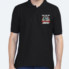 They see when you're eating BaeLolly Men's Polo T-shirt