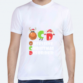Obsessive Christmas Disorder BaeLolly Unisex All Over Printed T-shirt