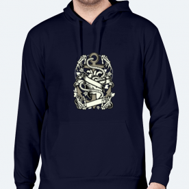 Heart and anchor BaeLolly Men's Hoodie