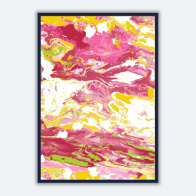 colorful marble-01 BaeLolly A4 Poster Frame