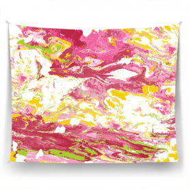 colorful marble-01 Cornelia Satin Wall Tapestry