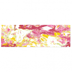 colorful marble-01 Alexis Satin Table Runner