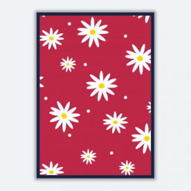 daisies red-01 BaeLolly A3 Poster Frame