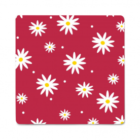 daisies red-01 Aurora Rubber Mouse Pad