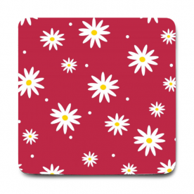 daisies red-01 Rozzby Foam Mouse Pad