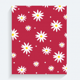 daisies red-01 BaeLolly Rectangle Canvas Frame