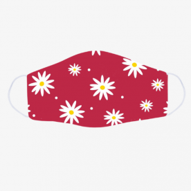 daisies red-01 BaeLolly Emma Face Mask