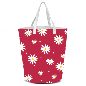 daisies red-01 Laila All Over Print Laundry Bag