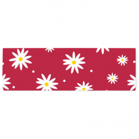 daisies red-01 Alexis Satin Table Runner